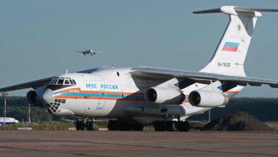صورة طائرة روسية تحمل معدات طبية تصل الجزائر