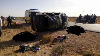 صورة الأغواط : مقتل 3 أشخاص وإصابة 5 آخرين إثر حادثين مروريين