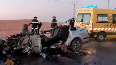 صورة إصابة 5 أشخاص من عائلة واحدة في حادث مرور بالمنيعة