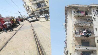 صورة العاصمة: إنهيار طابقين لعمارة في حسين داي