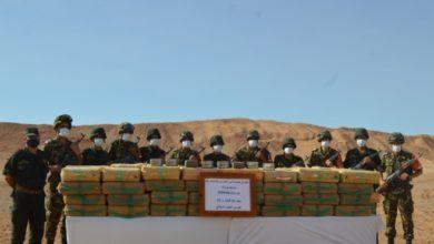 صورة الجيش يحجز أكثر من 30 قنطارا من الكيف بتندوف