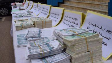 صورة وضع حد لنشاط شبكة مختصة في تزوير النقود بالجلفة