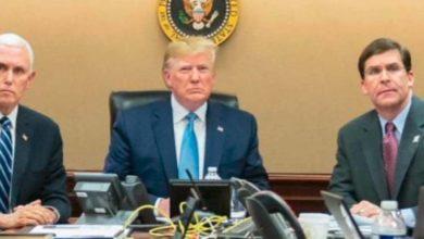 صورة ترامب يلجئ إلى القبو المُحصّن بالبيت الأبيض