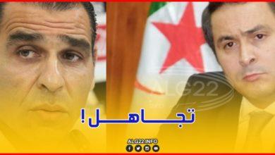 صورة الوزير خالدي يهنئ لاعبي الخضر والطاقم الفني ويتجاهل زطشي !