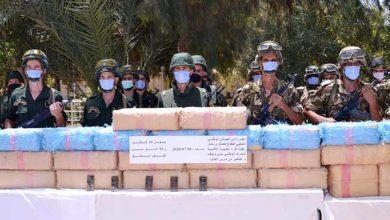 صورة الجيش يحجز أكثر من 9 قناطير من الكيف المعالج ببشار