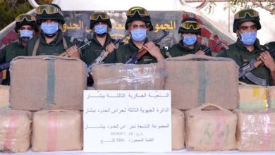 صورة الجيش يحجز أكثر من 5 قناطير من الكيف و45 قنطارا من مادة التبغ