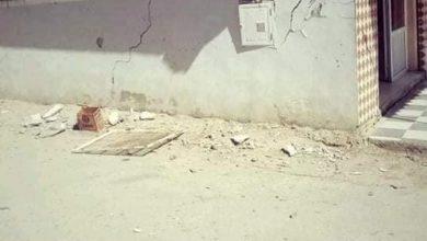 صورة تضرر بنايات وطرقات بعد الهزة الأرضية في ميلة