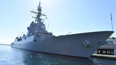 "Photo of الفرقاطة الإسبانية ""SNMG-2"" ترسو بميناء الجزائر"