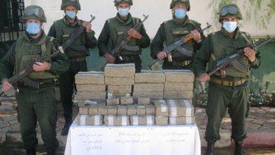 صورة حجز أكثر من 10 قناطير مخدرات تم إدخالها من المغرب