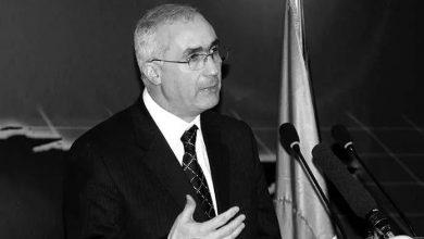 صورة وفاة وزير الاتصال الأسبق عبد الرشيد بوكرزازة