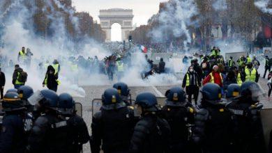 """صورة فرنسا: إصابة 62 شرطيا أثناء الاحتجاجات ضد قانون """"الأمن الشامل"""""""