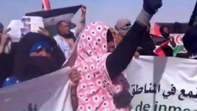 صورة المدن الصحراوية المحررة في مظاهرات تضامنا مع محتجي الكركرات