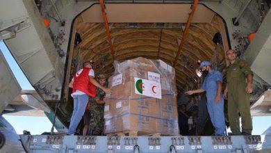 صورة 60 طنا من المساعدات الإنسانية المخصصة للشعب الصحراوي تحط في مطار تندوف