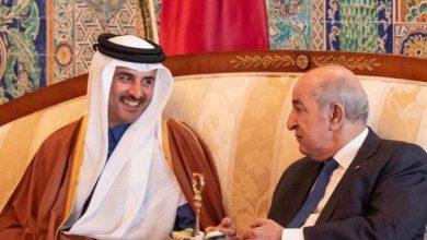صورة الرئيس تبون يتلقى مكالمة هاتفية من أمير دولة قطر