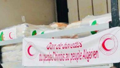 صورة الصين تتبرع بـ 200 ألف كمامة للهلال الأحمر الجزائري