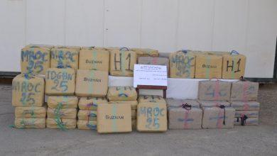 صورة حجز أزيد من 27 قنطار من الكيف المعالج قادمة من الحدود المغربية
