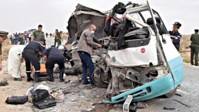 صورة وفاة 19 شخصا إثر حوادث مرور وجرح 947 آخرين خلال أسبوع