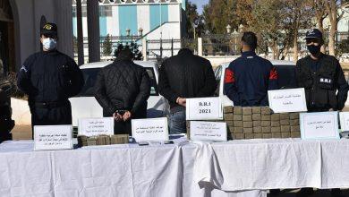 """صورة النعامة: توقيف شبكة إجرامية منظمة وحجز 50 كلغ من """"الزطلة"""" و296 مليون سنتيم"""