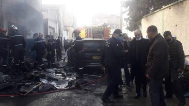 صورة البويرة: وفاة شخصين وإصابة آخرين في انفجار للغاز بحي الشاطو