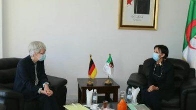 صورة وزيرة البيئة تتباحث مع سفيرة ألمانيا لتعزيز القدرات في مجال البيئة