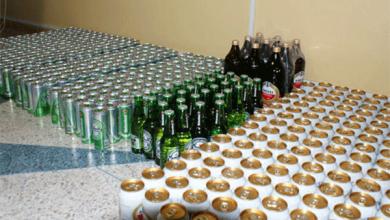 صورة تبسة: حجز 1200 قارورة خمر كانت موجهة للترويج بمناسبة رأس السنة