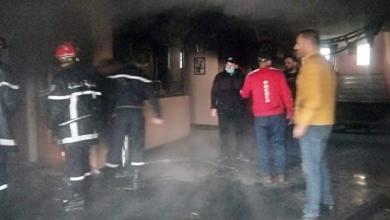 صورة نشوب حريق في مقر نادي أولمبي المدية