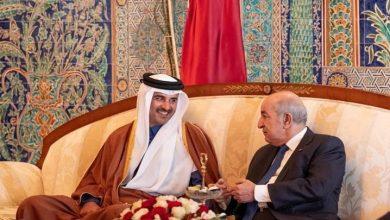 صورة أمير قطر يبعث ببرقية تهنئة لرئيس الجمهورية على نجاح العملية الجراحية