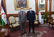 صورة الرئيس تبون يستقبل الرئيس الصحراوي ابراهيم غالي