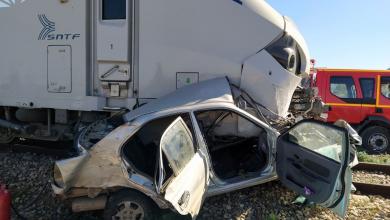 صورة الشلف: وفاة شخص في اصطدام قطار بسيارة