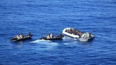 """صورة إنقاذ99 """"حراقا"""" من بينهم 18 من جنسية مغربية في السواحل الغربية"""