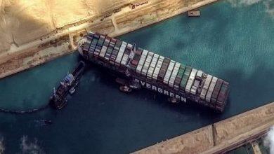 صورة إنفراج أزمة السفينة العالقة بقناة السويس