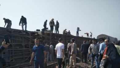 صورة مصر: إصابة 103 شخصا في حادث انحراف قطار عن مساره
