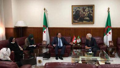 صورة سفيـر لبنان يبحث سبل تعزيز التعاون الأكاديمي مع مدير جامعة الجزائر 1