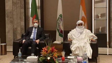 صورة جراد يصل إلى النيجر لحضور حفل تنصيب الرئيس الجديد