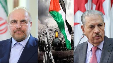 صورة قوجيل يبحث مع نظيره الإيراني مستجدات الوضع الفلسطيني