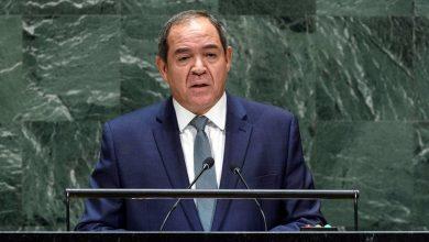 صورة كلمة الوزير بوقدوم أمام الجمعية العامة للأمم المتحدة حول فلسطين
