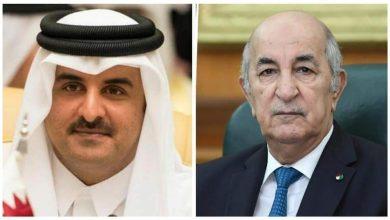 """صورة أمير قطر يهنئ الرئيس """"تبون"""" بعيد الأضحى"""