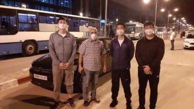 صورة وصول الوفد صيني إلى مطار قسنطينة لتفقد تجهيزات انتاج لقاح سينوفاك