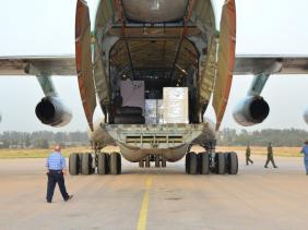 صورة منتدى الجالية بالخارج يرسل مساعدات طبية للجزائر