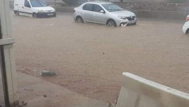 صورة الدرك الوطني يدعو الى اخذ المحيطة والحذر بسبب ارتفاع منسوب مياه وادي مزفران