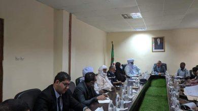 صورة وفد وزاري مشترك بان قزام الوقوف على وضعية المعبر الحدودي لاعادة فتحه مع دولة النيجر
