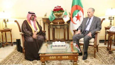 صورة صالح قوجيل يستقبل سعادة سفير المملكة العربية السعودية بالجزائر